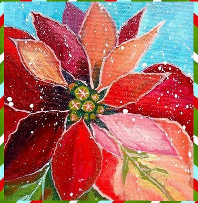 Poinsettia Painting Tuesday NOV 6 From 6 8 Pm $40 20 X 20 Canvas With  Sparkle! Ted Lare Garden Center